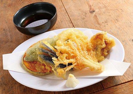 昇仙峡流しそうめん 円右衛門季節の野菜天ぷら+流しそうめん(5名様分)