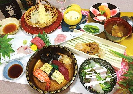 おかめ鮨 オリジナルコース料理&2時間飲み放題付(2名様)