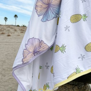 Sea Flower Hooded Towel Set (フード付タオルセット)