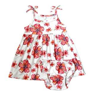Hibiscus Infant Dress+Bloomers(ハイビスカス柄 インファントドレス+ブルマー)