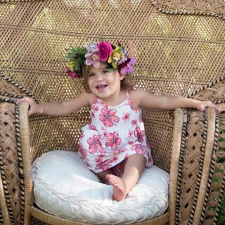 Hibiscus Toddler Dress(ハイビスカス柄 トドラードレス)