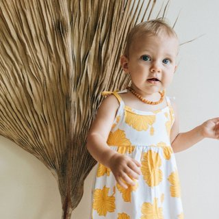 Golden Hibiscus Toddler Dress(ゴールデン・ハイビスカス柄 トドラードレス)