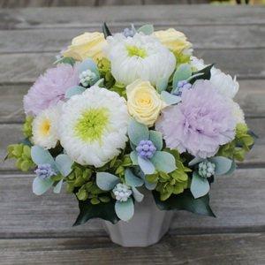故人を偲ぶお花 お供え用プリザーブドアレンジ【ノクターン】