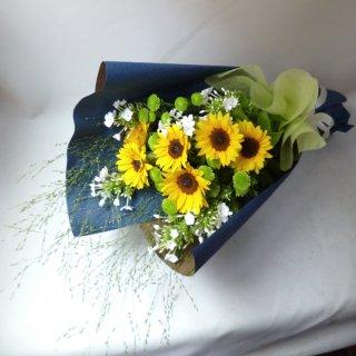 ひまわりのお供え花束