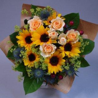 敬老の日の贈り物【ひまわりの花束】