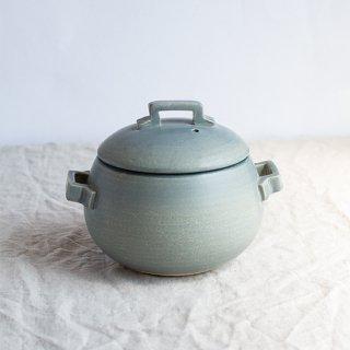 萬古焼 直火炊き グレー ごはん鍋(3合炊き)