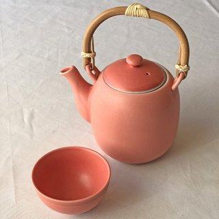 茶器セット ピンク(湯瓶/煎茶碗2個)