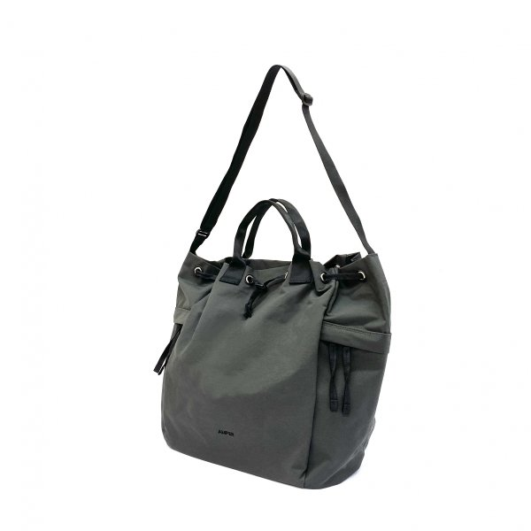 2way cotton nylon tote L
