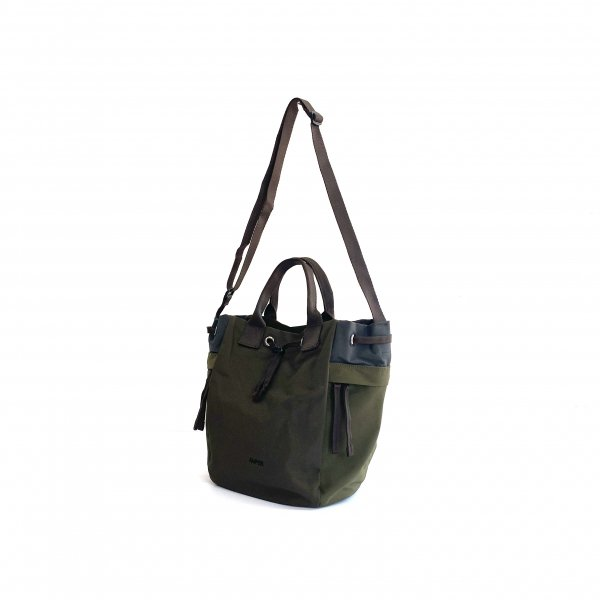 2way cotton nylon tote M