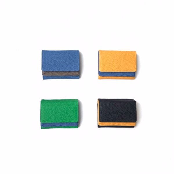 two tone mini wallet