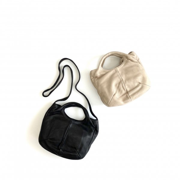 2way soft round tote bag M