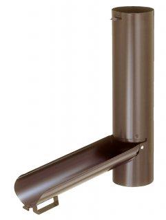 雨水とりだし口  パッコン  SW-1102B(色: 茶 / 塩ビ雨とい-60Φ-用セット / 材質:ステンレスSUS304)