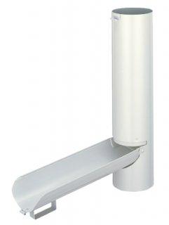 雨水とりだし口  パッコン  SW-1102H(色: 白 / 塩ビ雨とい-60Φ-用セット / 材質:ステンレスSUS304)