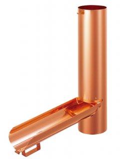 雨水とりだし口  パッコン  CW-1102(色: 銅 磨き / 塩ビ雨とい-60Φ-用セット / 材質:銅)