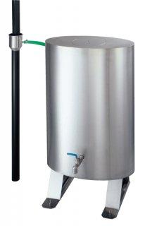 雨水貯留タンク レインバンク地上設置型150  SW-1001(住宅用塩ビ雨とい-60Φ-用 / 材質:ステンレスSUS304 ヘアライン仕上 t0.8)