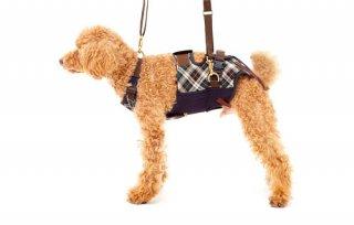 歩行補助ハーネス LaLaWalk 小型犬・ダックス用スクール 緑チェック