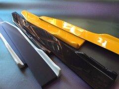 未塗装 汎用 サイド フラップ 2 カナードタイプ エアロ 左右セット FRP黒ゲル 【国産】  【70cmX10cm】  image