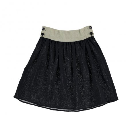 alma chica CLOWN SKIRT / BLACK RICE 04011101
