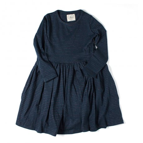 <img class='new_mark_img1' src='https://img.shop-pro.jp/img/new/icons21.gif' style='border:none;display:inline;margin:0px;padding:0px;width:auto;' />GRO / ANNI LONG DRESS / NAVY W. COBBER THREATH / AW18.20.20148.NA/STRIPE