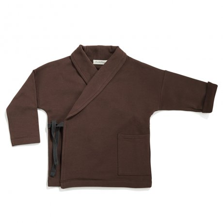 Phil&Phae / Cross-over sweat jacket / cocoa / 183120