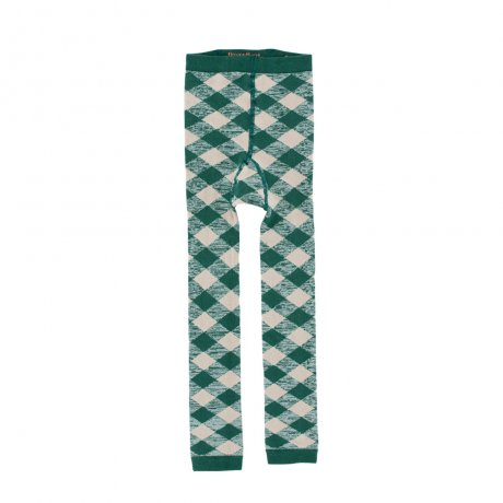 tinycottons / check leggings / dark green pistacho