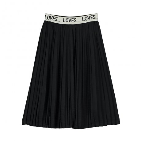 Beau Loves / Pleated Skirt / Black