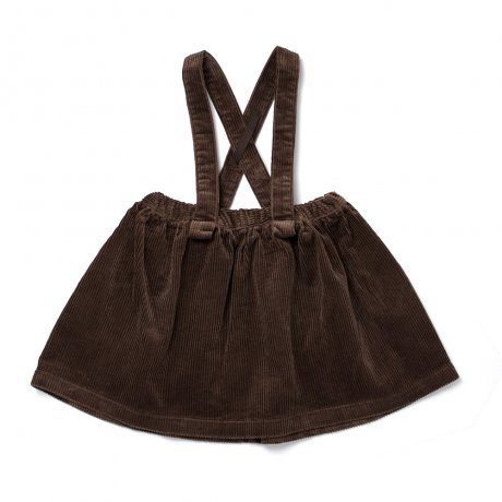 <img class='new_mark_img1' src='https://img.shop-pro.jp/img/new/icons21.gif' style='border:none;display:inline;margin:0px;padding:0px;width:auto;' />FROU FROU / SUSPENDER SKIRT / CHOCOLATE / W1821