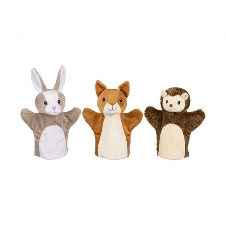 goki / Hand puppets, squirrel, rabbit and hedgehog / ハンドパペット / 50961
