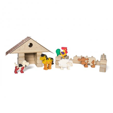 Building kit - Dog house and animals / PBST
