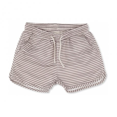 Konges Slojd / SOLEIL BOYS SWIM SHORTS / STRIPED BORDEAUX/NATURE / KS1054