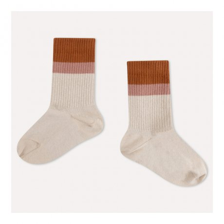 REPOSE AMS / SPORTY SOCKS / SAND STRIPE