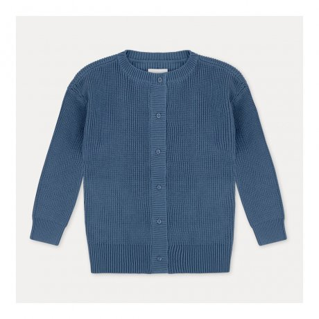REPOSE AMS / KNIT CARDIGAN / AGED BLUE
