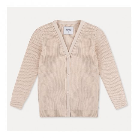 REPOSE AMS / KNIT CARDIGAN / SAND IVORY