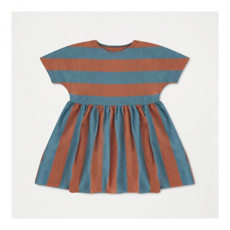 <img class='new_mark_img1' src='https://img.shop-pro.jp/img/new/icons8.gif' style='border:none;display:inline;margin:0px;padding:0px;width:auto;' />REPOSE AMS / RUFFLE DRESS / WASHED AGED BLUE STRIPE