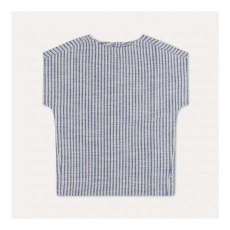 REPOSE AMS / WOVEN TEE / FADED SAND BLUE STRIPE