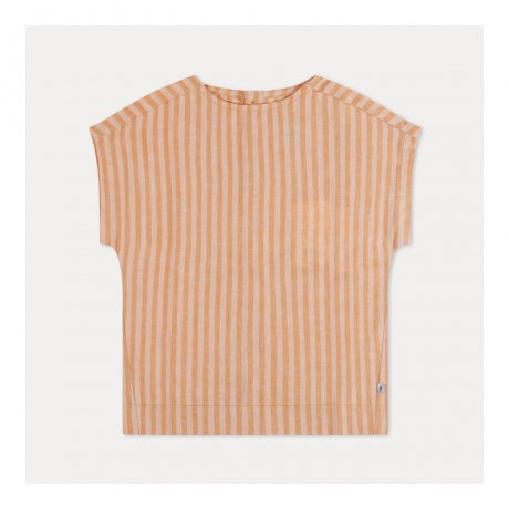 REPOSE AMS / WOVEN TEE / RARE YELLOW GOLD STRIPE