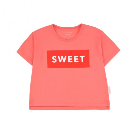 tinycottons / SWEET SS CROP TEE / light red red