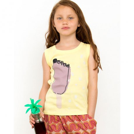 Nadadelazos / T-SHIRT ICE CREAM YUMMY / LIGHT SUNNY YELLOW / S19 TSH.60.550 YUMMY