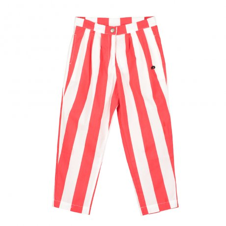 BEAU LOVES / Chino Pants / Deck Chair Stripe / Ecru/Tomato Red