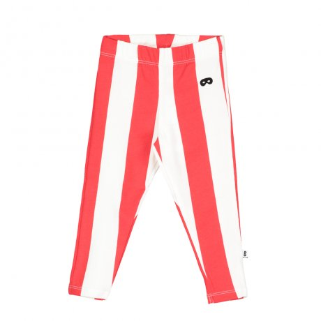 BEAU LOVES / Baby Leggings / Deck Chair Stripe / Ecru/Tomato Red