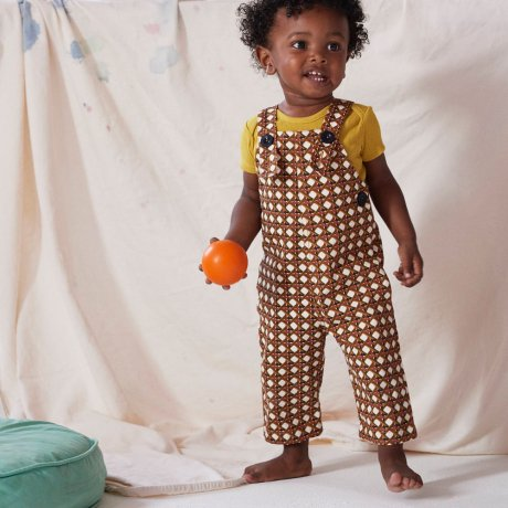 Misha&Puff / LATTICE CANVAS OVERALL / Lattice Print / MNPK0685-101 [6y][8y]