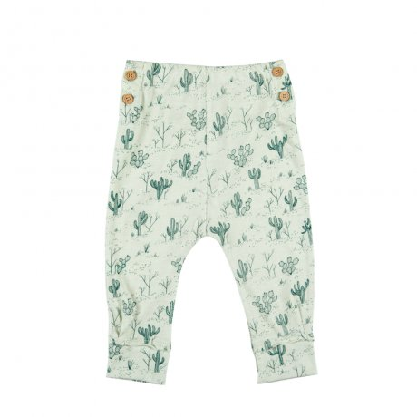 RED CARIBOU / Buttons Pants / Cacti Garden / Green lilly / SS19-K-BT10-03