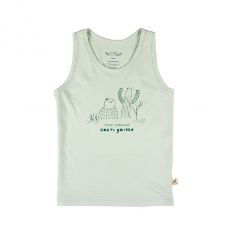 RED CARIBOU / Tank Top / Keep Growing / Green lilly / SS19-K-TP04-28