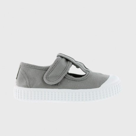 victoria CANVAS VELCRO SANDALS 36625 / GRIS