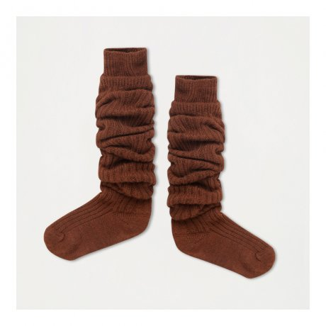 REPOSE AMS / WOOLLY HIGH SOCKS / HAZEL BROWN