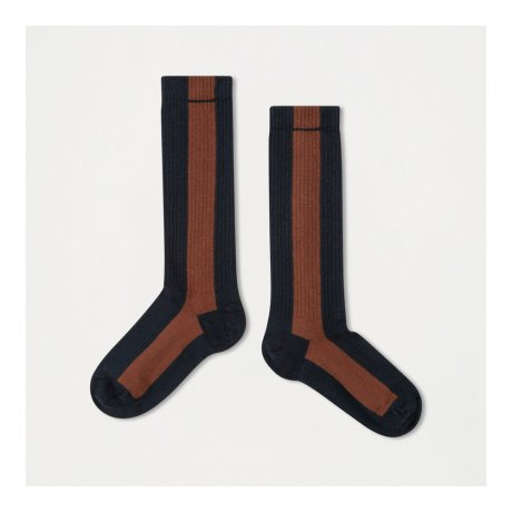 <img class='new_mark_img1' src='https://img.shop-pro.jp/img/new/icons8.gif' style='border:none;display:inline;margin:0px;padding:0px;width:auto;' />REPOSE AMS / SOCKS / STONE BLUE WITH HAZEL STRIPE