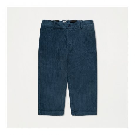 REPOSE AMS / CORD PANTS / MID STONE BLUE