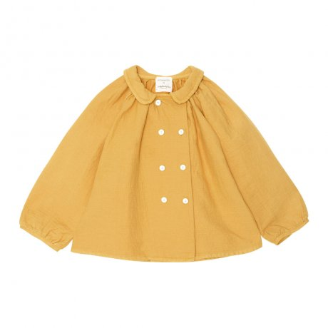 <img class='new_mark_img1' src='https://img.shop-pro.jp/img/new/icons8.gif' style='border:none;display:inline;margin:0px;padding:0px;width:auto;' />yellowpelota / Double button blouse (Baby) / Mustard / FW19-06.4-BL23