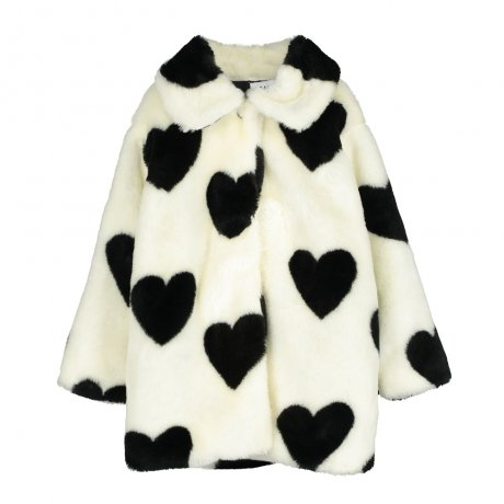 BEAU LOVES / Fur Jacket / Hearts Jacquard / Natural