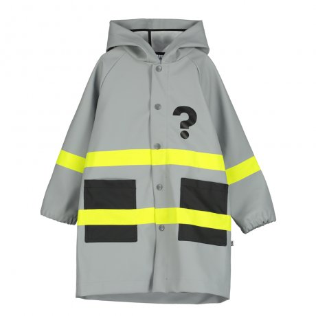 BEAU LOVES / Boxy Rain Coat / ? On Front Hero Mask on Back / Yellow stripes